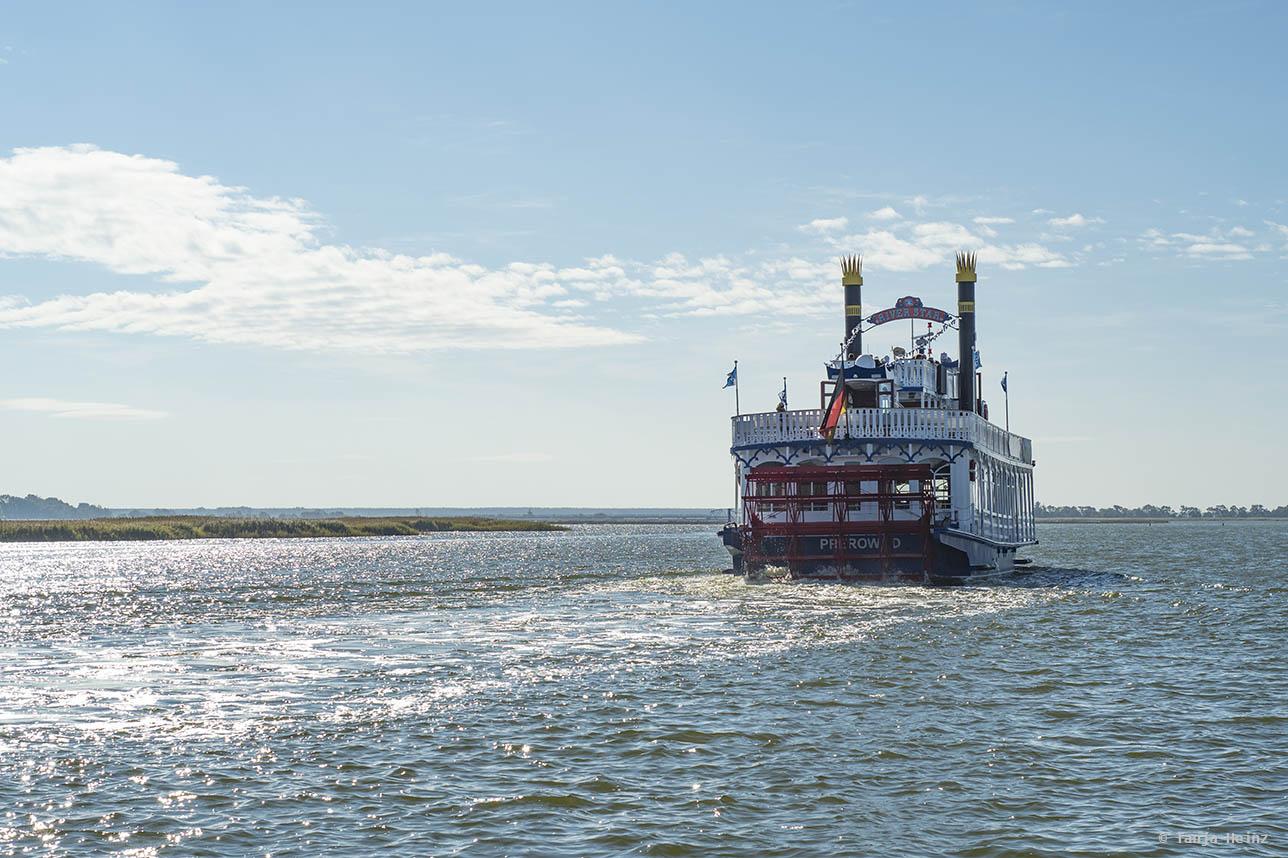 Kranichbeobachtung mit dem Schiff