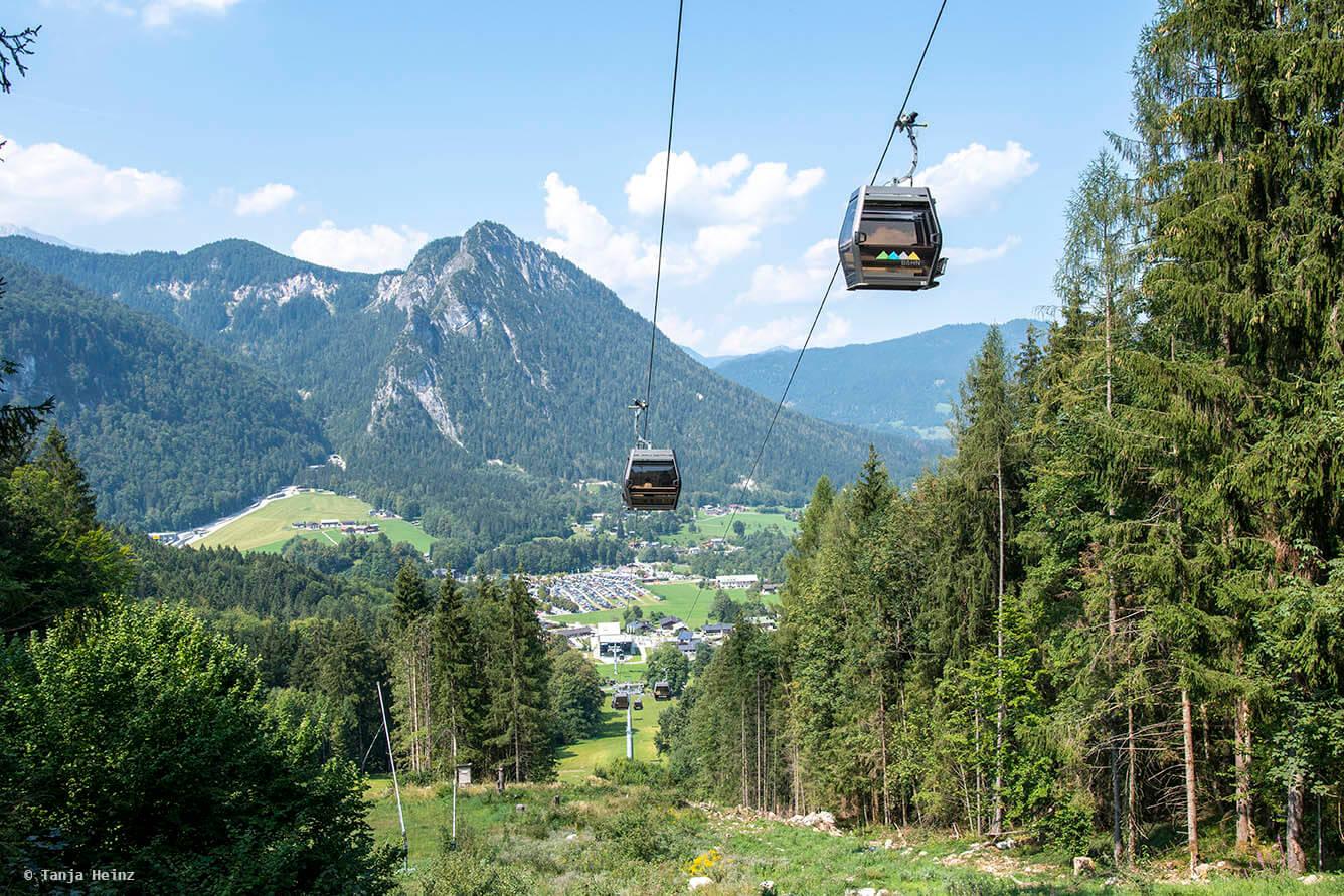 Gondel lift in the Berchtesgadener Land