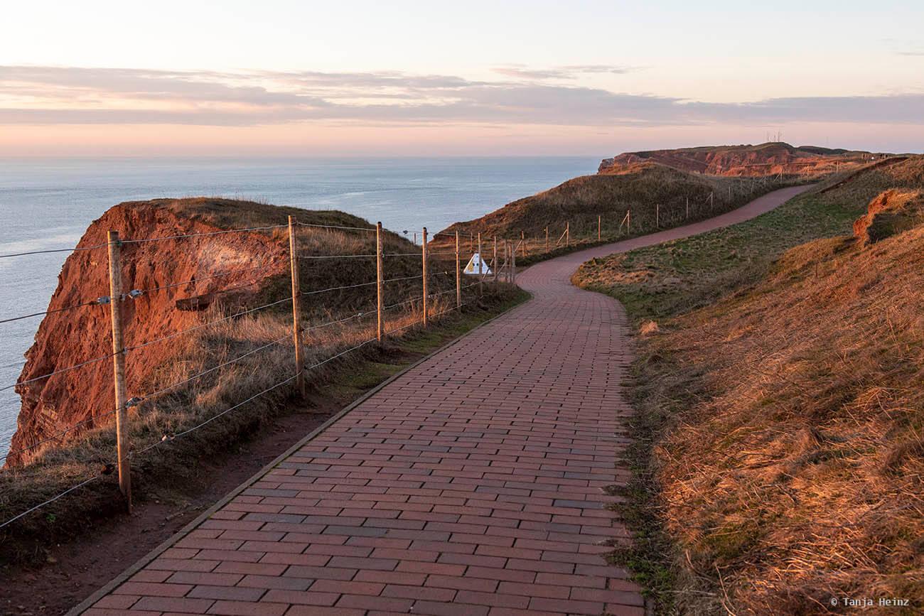 Spaziergang auf Helgoland