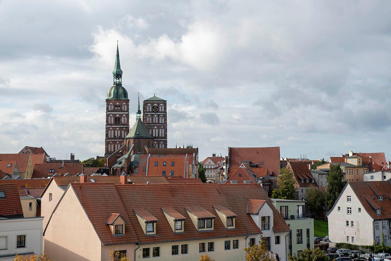 Aussicht auf Stralsund vom Ozeaneum