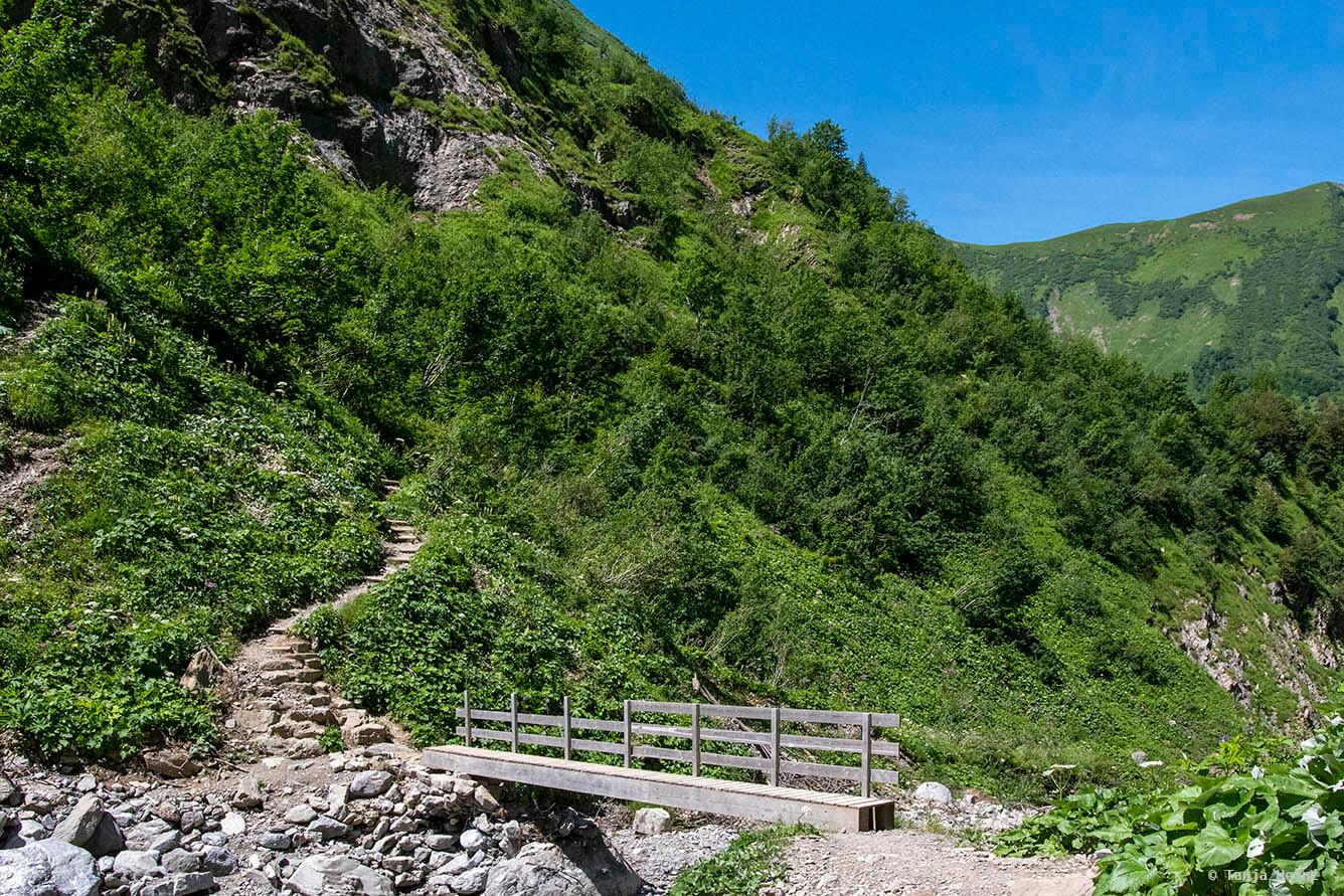 Weg in den Allgäuer Alpen